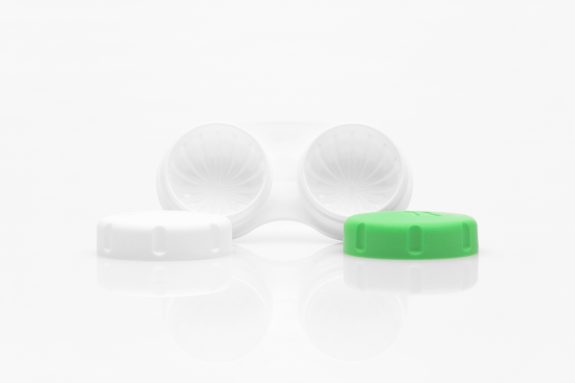 Image contact lense case