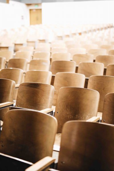 image of classroom chairs by Nathan Dumlao on unsplash