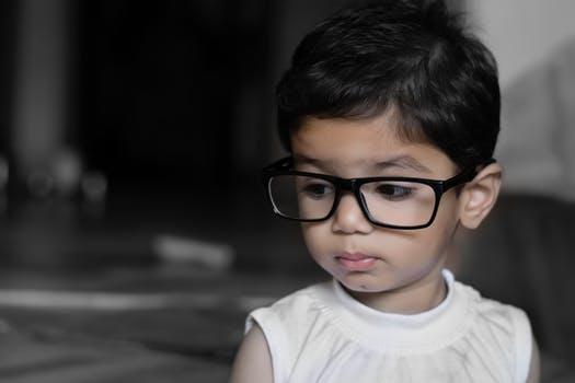 image child wearing glasses