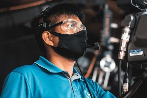 Man wearing Protective Eyewear